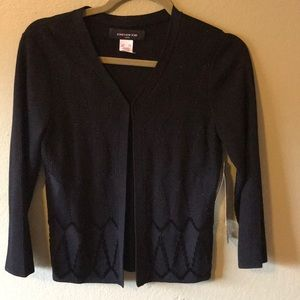 Jones New York petite black beaded cardigan